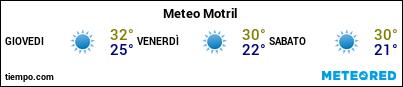 Previsioni del tempo nel porto di Motril per i prossimi 3 giorni