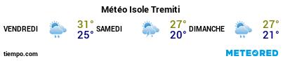 Météo au port de Tremiti pour les 3 prochains jours