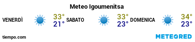 Previsioni del tempo nel porto di Igoumenitsa per i prossimi 3 giorni