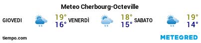Previsioni del tempo nel porto di Cherbourg per i prossimi 3 giorni