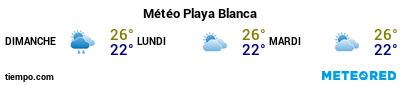 Météo au port de Lanzarote (Playa Blanca) pour les 3 prochains jours