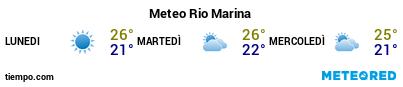 Previsioni del tempo nel porto di Elba (Rio Marina) per i prossimi 3 giorni