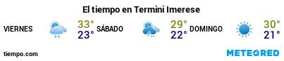 Previsión del tiempo en el puerto de Termini Imerese para los próximos 3 días