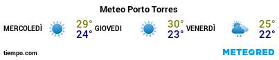 Previsioni del tempo nel porto di Porto Torres per i prossimi 3 giorni