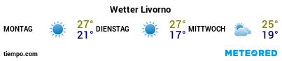 Wettervorhersage im Hafen von Livorno für die nächsten 3 Tage