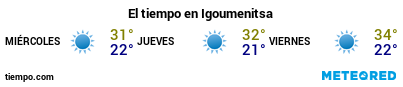 Previsió del temps en el port de Igoumenitsa per als pròxims 3 dies