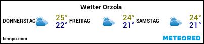 Wettervorhersage im Hafen von Lanzarote (Orzola) für die nächsten 3 Tage
