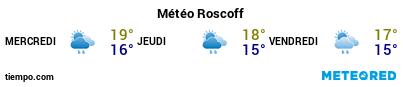 Météo au port de Roscoff pour les 3 prochains jours