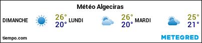 Météo au port de Algésiras pour les 3 prochains jours