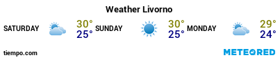 Weather forecast at the port of Livorno for the next 3 days