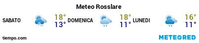 Previsioni del tempo nel porto di Rosslare per i prossimi 3 giorni