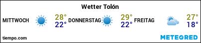Wettervorhersage im Hafen von Toulon für die nächsten 3 Tage