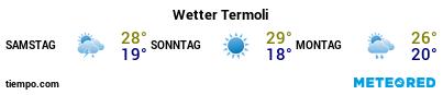 Wettervorhersage im Hafen von Termoli für die nächsten 3 Tage