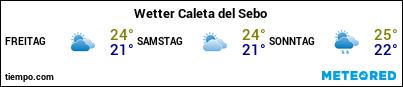 Wettervorhersage im Hafen von La Graciosa (Caleta de Sebo) für die nächsten 3 Tage