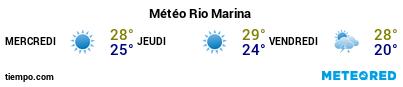 Météo au port de Rio Marina pour les 3 prochains jours