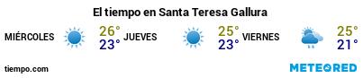 Previsión del tiempo en el puerto de Santa Teresa Gallura para los próximos 3 días