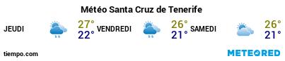 Météo au port de Tenerife (Santa Cruz) pour les 3 prochains jours
