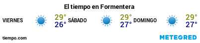 Previsió del temps en el port de Formentera per als pròxims 3 dies