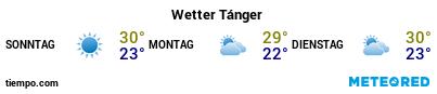 Wettervorhersage im Hafen von Tanger-Med für die nächsten 3 Tage