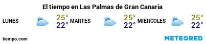 Previsió del temps en el port de Gran Canària (Las Palmas G.C.) per als pròxims 3 dies
