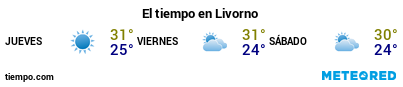 Previsión del tiempo en el puerto de Livorno para los próximos 3 días