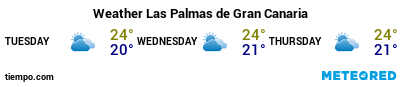 Weather forecast at the port of Gran Canaria (Las Palmas G.C.) for the next 3 days