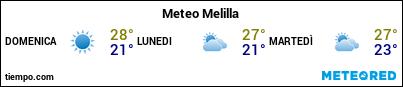 Previsioni del tempo nel porto di Melilla per i prossimi 3 giorni