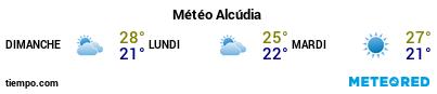 Météo au port de Majorque (Alcudia) pour les 3 prochains jours