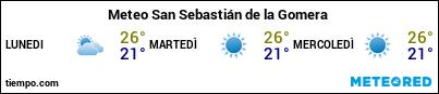 Previsioni del tempo nel porto di La Gomera (San Sebastian) per i prossimi 3 giorni
