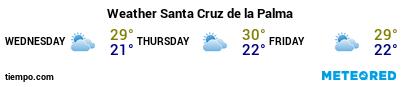 Weather forecast at the port of La Palma (S.C. de la Palma) for the next 3 days