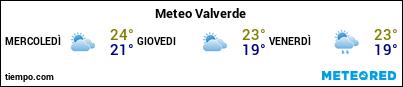 Previsioni del tempo nel porto di El Hierro (Valverde) per i prossimi 3 giorni