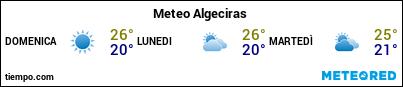 Previsioni del tempo nel porto di Algeciras per i prossimi 3 giorni