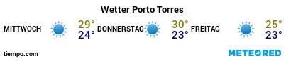 Wettervorhersage im Hafen von Porto Torres für die nächsten 3 Tage