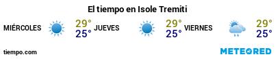 Previsión del tiempo en el puerto de Tremiti para los próximos 3 días