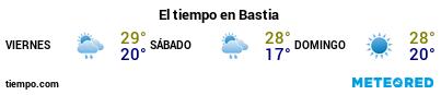Previsió del temps en el port de Bastia per als pròxims 3 dies