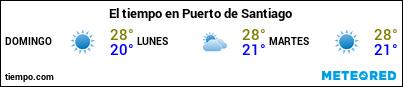 Previsión del tiempo en el puerto de La Gomera (Playa Santiago) para los próximos 3 días