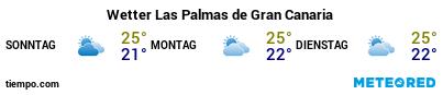 Wettervorhersage im Hafen von Gran Canaria (Las Palmas G.C.) für die nächsten 3 Tage