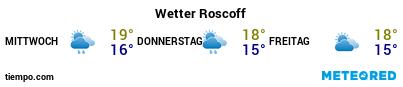 Wettervorhersage im Hafen von Roscoff für die nächsten 3 Tage