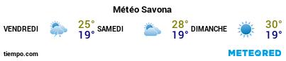 Météo au port de Savone pour les 3 prochains jours