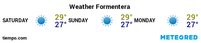 Weather forecast at the port of Formentera for the next 3 days