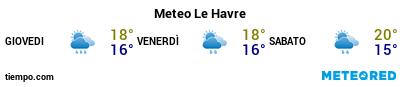 Previsioni del tempo nel porto di El Havre per i prossimi 3 giorni