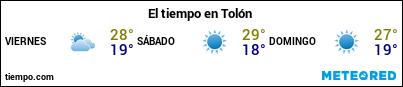 Previsión del tiempo en el puerto de Tolón para los próximos 3 días