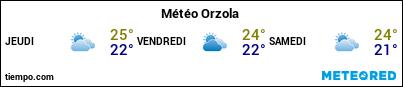 Météo au port de Lanzarote (Orzola) pour les 3 prochains jours
