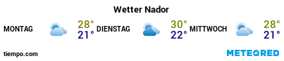 Wettervorhersage im Hafen von Nador für die nächsten 3 Tage