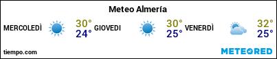 Previsioni del tempo nel porto di Almería per i prossimi 3 giorni