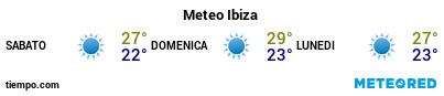 Previsioni del tempo nel porto di Ibiza per i prossimi 3 giorni