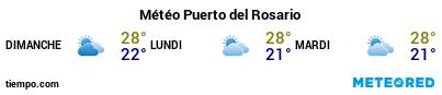 Météo au port de Fuerteventura (Puerto del Rosario) pour les 3 prochains jours