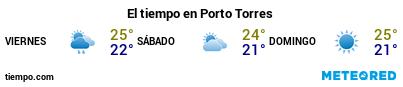 Previsió del temps en el port de Porto Torres per als pròxims 3 dies
