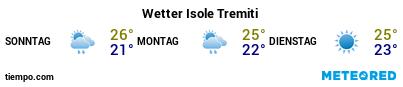 Wettervorhersage im Hafen von Tremiti-Inseln für die nächsten 3 Tage