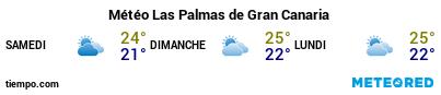 Météo au port de Grande Canarie (Las Palmas G.C.) pour les 3 prochains jours